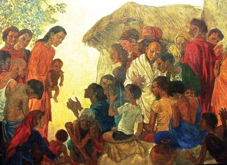 Jesus Healing the Sick - Oil on hardboard, 125 x 184cm, © Family Wesley, 2014.