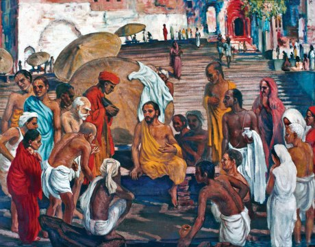 Jesus in Varanasi - Oil on Canvas, 30 x 38cm, © Family Wesley, 2014.
